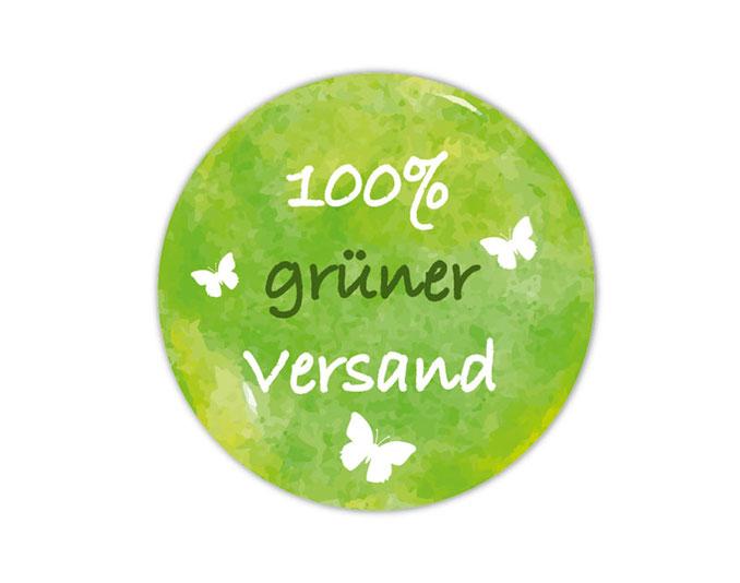 Verpackungsetiketten - Umweltschutzaufkleber für Verpackungen:  100 % grüner Versand