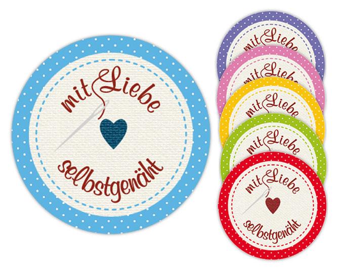 Handmadeaufkleber für dein Label - mit Liebe selbstgenäht - Stern