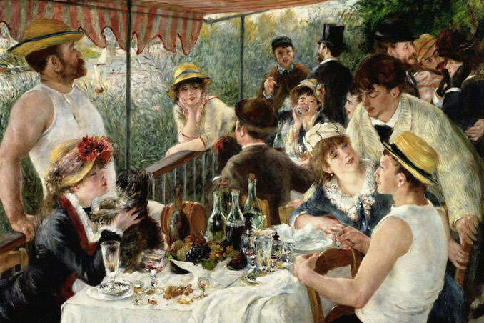 Le déjeuner des canotiers (Luncheon of the Boating Party) (1881) Pierre-Auguste Renoir