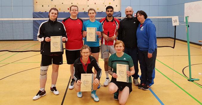 Badmintonteam aus Berlin Köpenick beim Neujahrsturnier des BC Potsdam