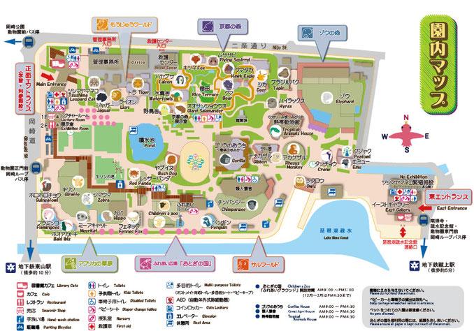 京都市動物園 園内MAP