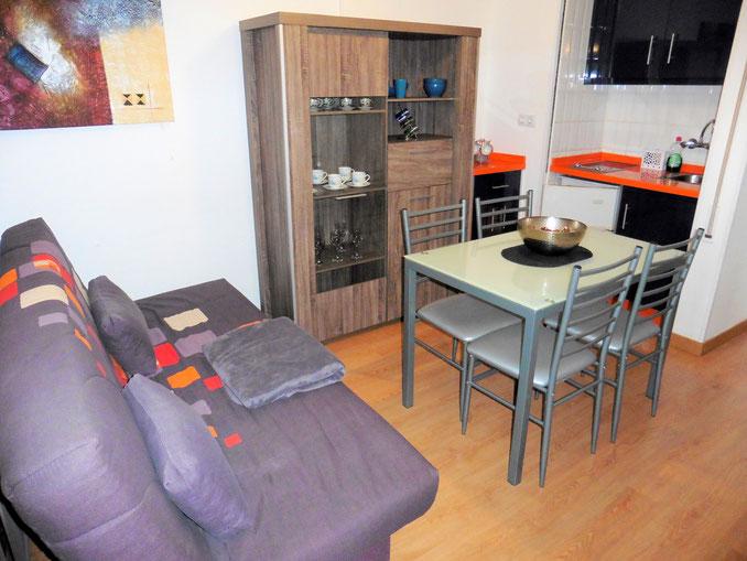 Wohn- und Essraum mit Küche
