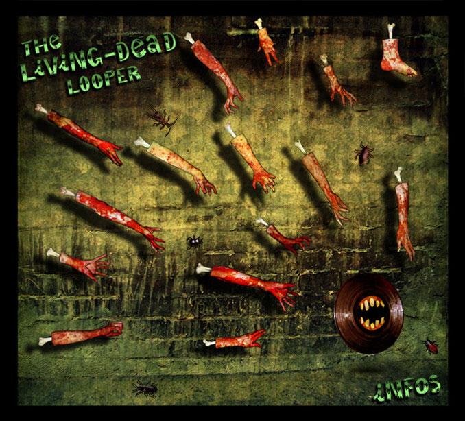 """""""The Living Dead Looper"""" / Objet virtuel de type flash: chaque bouton déclenche une boucle musicale infinie / Graphisme Kinder-k 2007"""