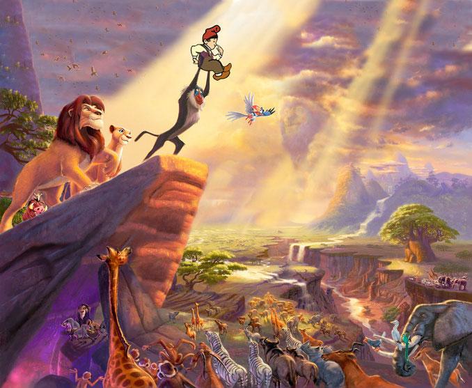 Animals de totes les races adoren l´elegit del déus, en Patufet, cridat a ser el rei del món