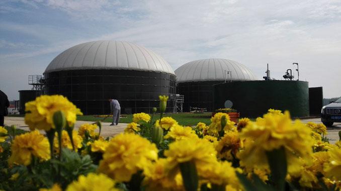 Biodigestor construido en base a tanques de acero vidriado
