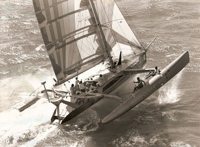 Trimaran Ocean Emu racing