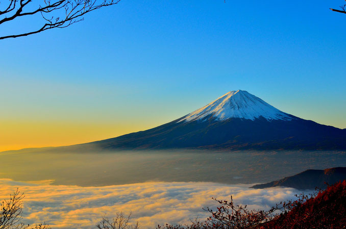 Mount Fuji. Der wohl berühmteste Berg in Japan.