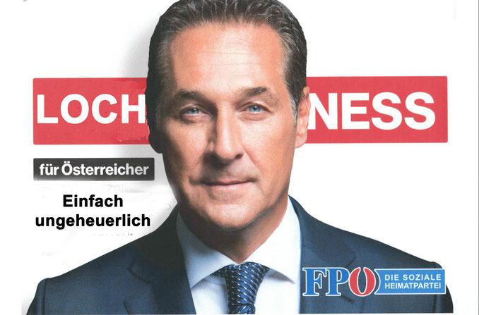 HC Strache Wahlplakat Nationalratswahlen 2017