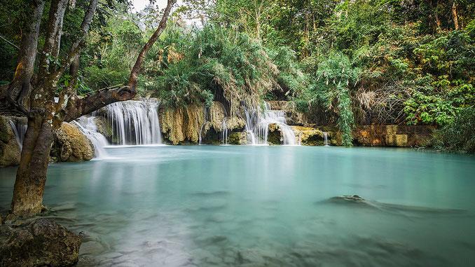 Cascadas de Kouang Si. No te cansas de verlas...