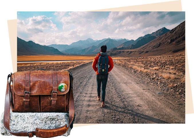 losgehen Abenteuer Aufbrechen Starten Erfolg Anfang Allein Veränderung Erfolg Weg