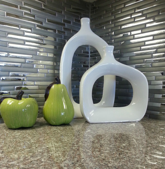 cool open centre vases add interest but don't take up space