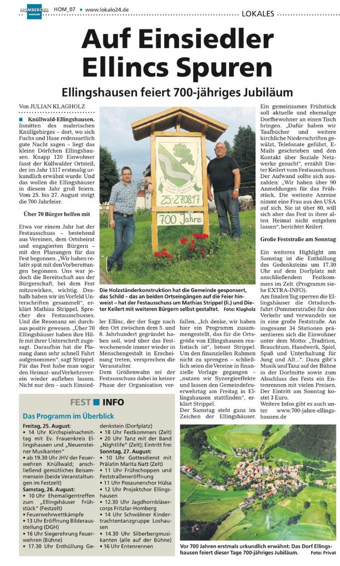 Homberger Anzeiger vom 16.08.2017