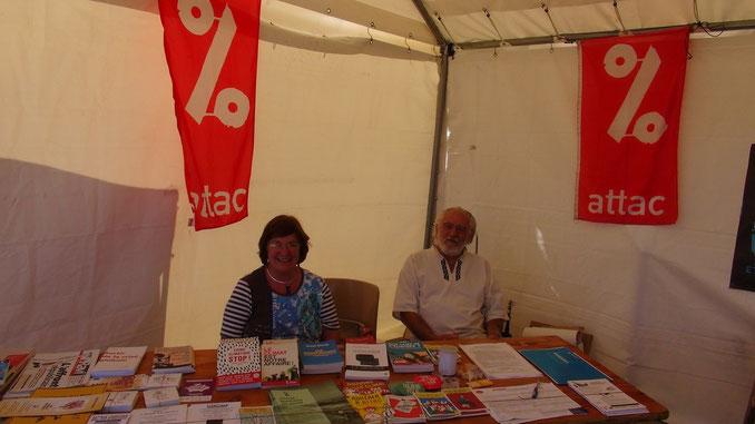 Christina et Henri lors de la fête de La Marseillaise le 20 septembre 2015