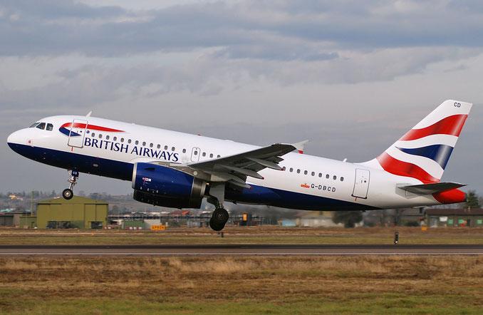 G-DBCD A319-131 2389 British Airways @ Aeroporto di Verona 07.01.2018  © Piti Spotter Club Verona