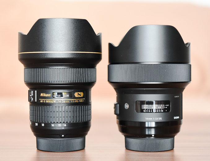Sigma 14mm f/1.8 ART vs. Nikon 14-24mm f/2.8