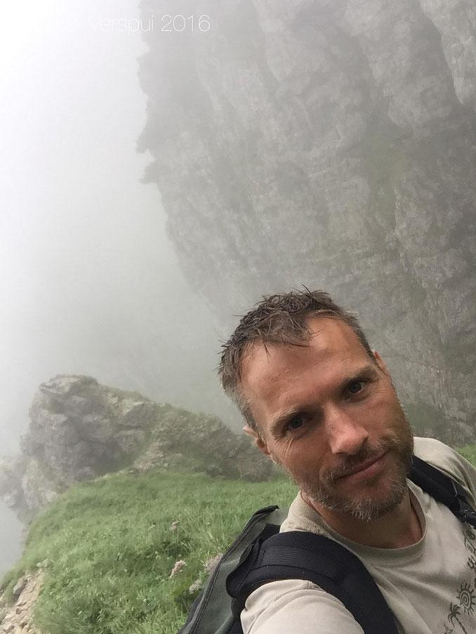 Me climbing up Monte Pasubio.