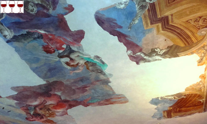 Soffitti di Palazzo Chigi, San Quirico d'Orcia. Foto Blog Etesiaca