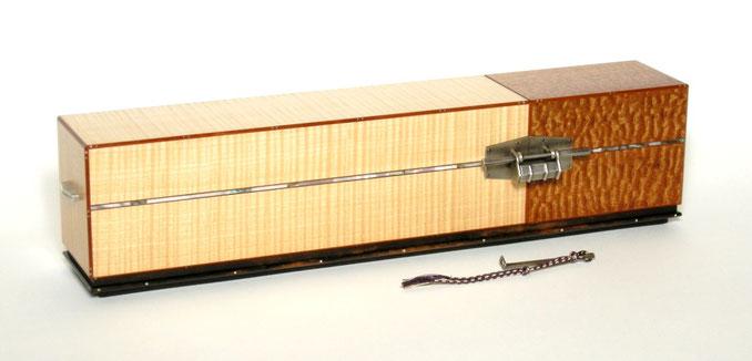 嵌装小箪笥「青蓮」-木工藝 須田賢司 Japanese Fine Woodwork SUDA Kenji