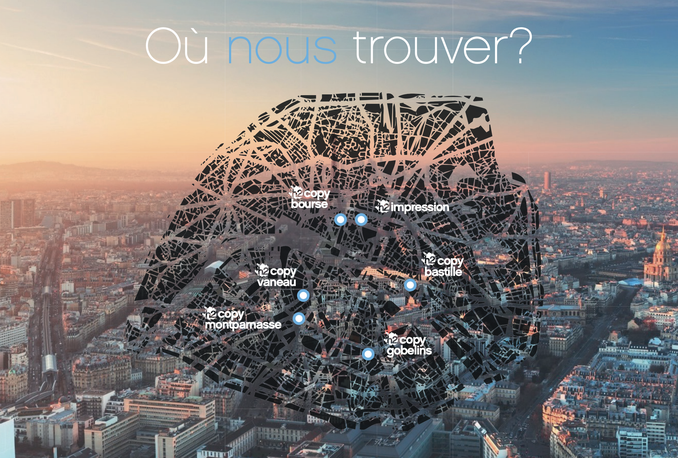 map of Paris, h2copy, copy shop in Paris, printing in Paris, where to print in Paris, print a document in Paris, document binding in Paris, h2impression, fast printing in Paris