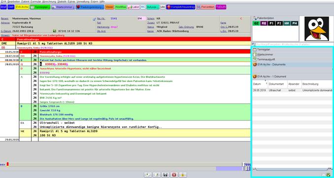 Arztsoftware Praxissoftware abasoft EVA SoftwarefürPraxis Wartezimmer Terminauskunft Archiv Labor