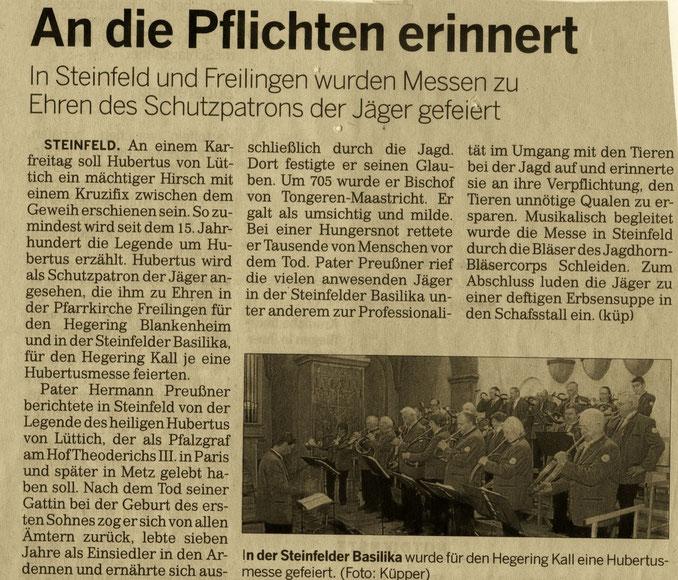 Kölnische Rundschau 10.11.2011