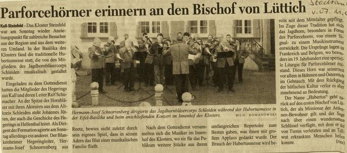 Kölner Stadtanzeiger v. 07.11.2005