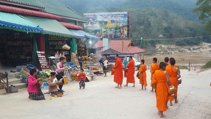Morgen in Pak Beng in Laos am Mekong
