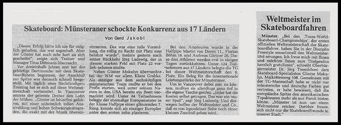 Münster Zeitung und Wästfälische Zeitung 1986