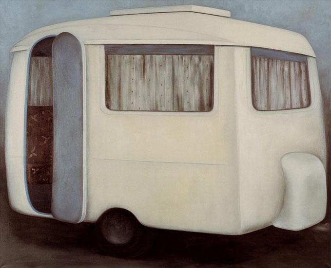 z.t.  caravan  no.1    olieverf - linnen  180 x 220 cm  2000/2001