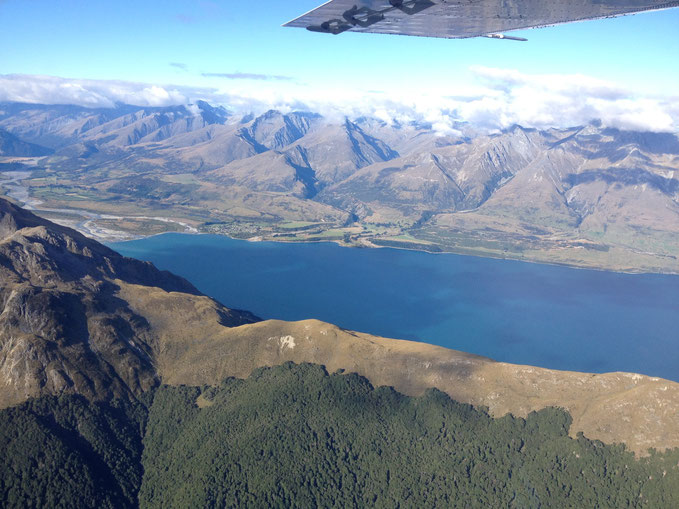 Flying back to Queenstown