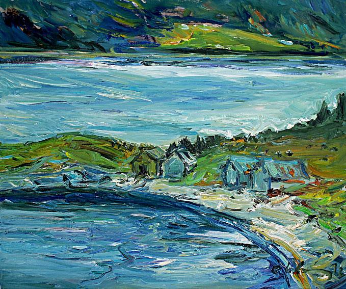 Ufer nahe Vatne   2012, Öl auf LW, 46 cm x 55 cm