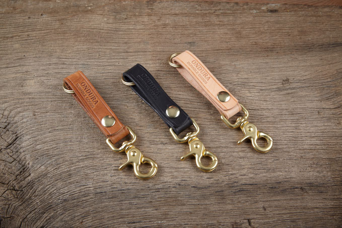 Heritage brand leather key fob handcrafted leathergoods
