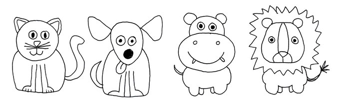 Tiere einfach malen kinder