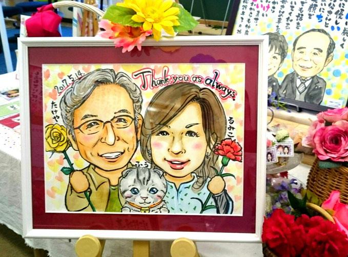 母の日似顔絵プレゼント 三重県鈴鹿市