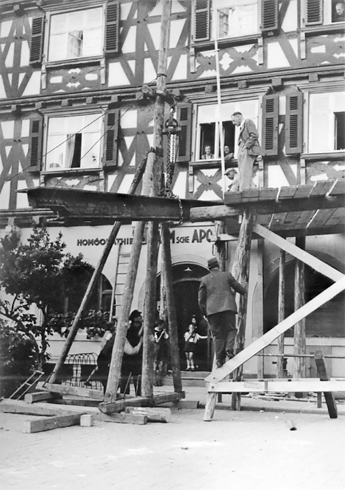 1890er Jahre: Umbau- und Renovierungsarbeiten der Dr. Palm´sche Apotheke in Schorndorf