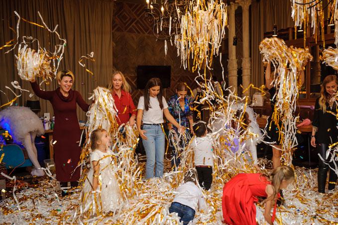 бумажное шоу на детский день рождения ребенка в Москве