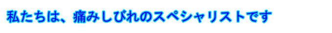 横浜市の腰痛治療と交通事故治療なら、たまプラーザのおがさわら治療院・整骨院へお越し下さい。私たちは、痛みしびれのスペシャリストです。