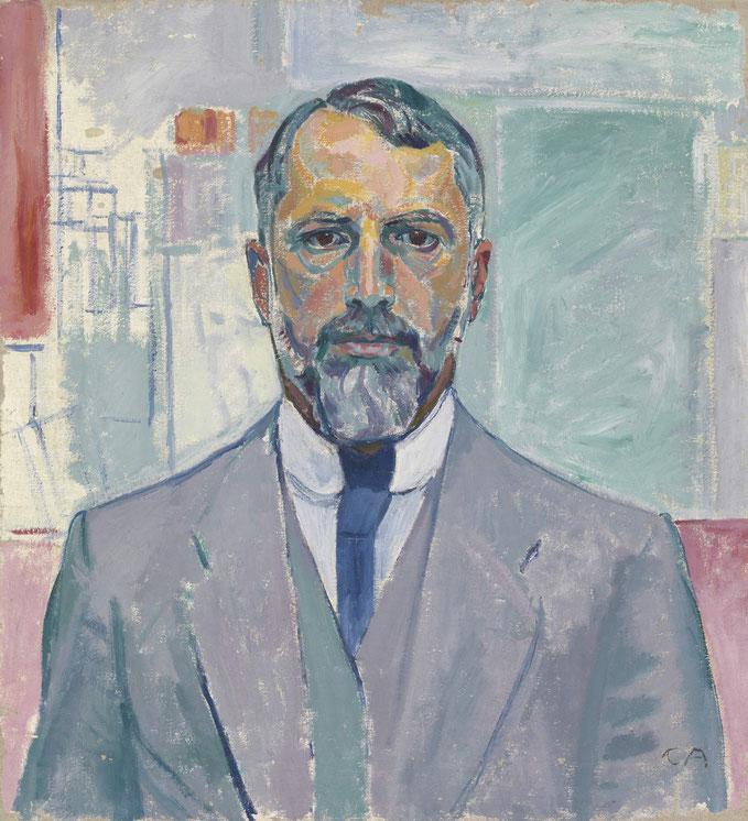 Cuno Amiet, Selbstbildnis im Atelier, Öl/Leinwand, 1907