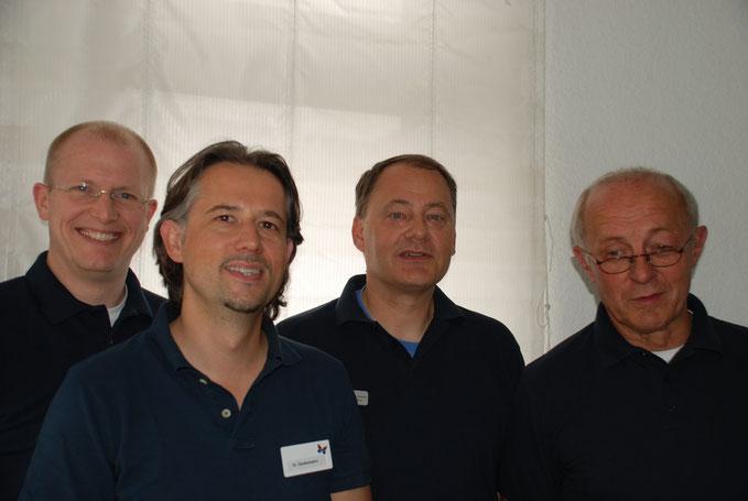 v.l.n.r.: Sven Kochsiek, Dr.med. Alfred Darabaneanu, Dr. med. Armin Volkheimer, Dr.med.  Ferdinand Kokenge