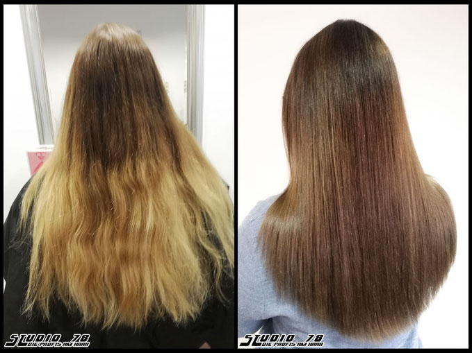 Coloration Haarfarbe Braun chestnut-brown brown hair haircolor brownhair kastanienbraun kastanie braun vorher nachher