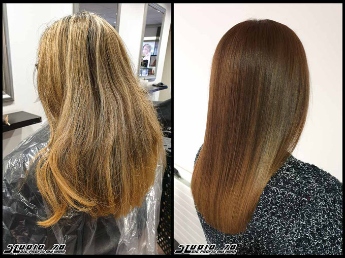 Coloration Haarfarbe Braun hazelnut-brown hazelnut brown hair haircolor brownhair haselnussbraun haselnuss braun vorher nachher