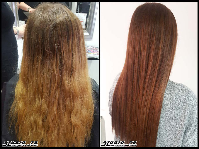 Coloration Haarfarbe Braun praline-brown brown hair haircolor brownhair vorher nachher