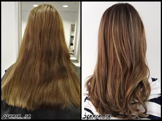 Coloration Haarfarbe Braun brown hair haircolor brownhair vorher nachher