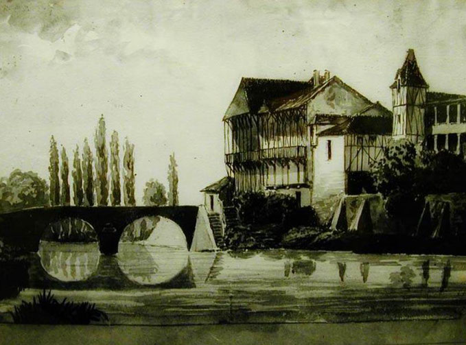 Paul Lacave-Laplagne peinture tableau plaisance du gers