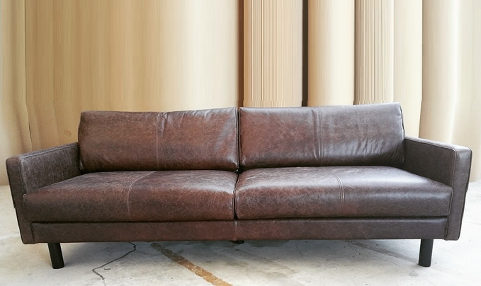 Einzelsofa, Vintage Sofa, Mid-Century Sofa, Design Sofa, Leder Sofa, Retro Sofa