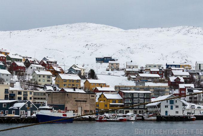 Honningsvåg,Magerøya,Nordkap,Hurtigruten,Postschiff,Ausflug,MS,Midnatsol