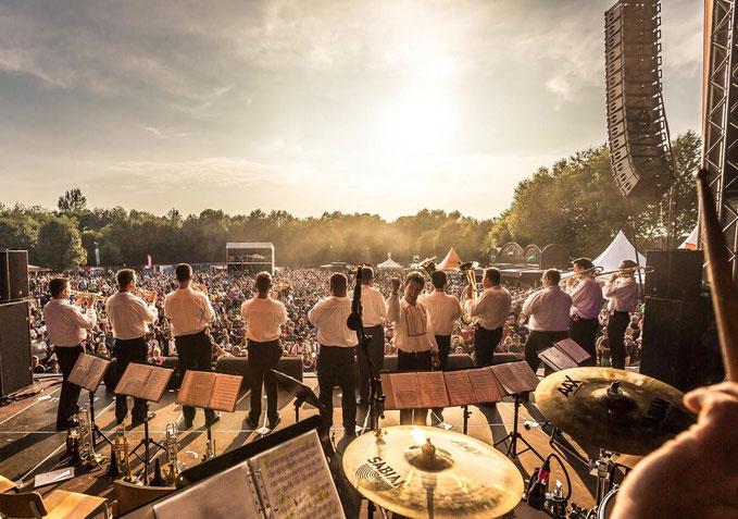 JÖRG BOLLIN und das mährische Feuer auf dem Brass & Blasmusikfestival Seepark Pfullendorf 15.-17. Juni 2018