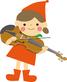 バイオリン教室 女の子とバイオリン画像