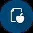 Icon Ernährungsberatung - Apfel vor Papier
