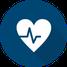 Icon Prävention - Herz mit Herzschlagkurve